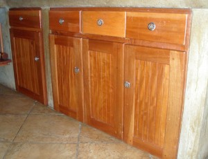Sustainable hardwood product, cabinets
