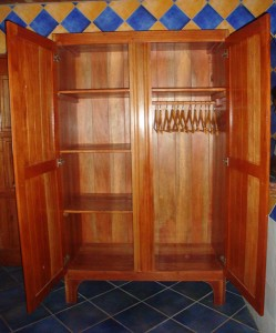 Sustainable hardwood product, wardrobe