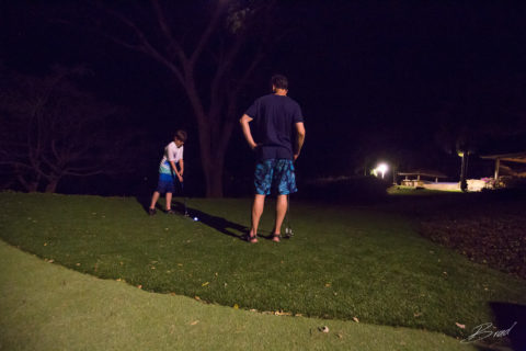 Family Travel Night Golf