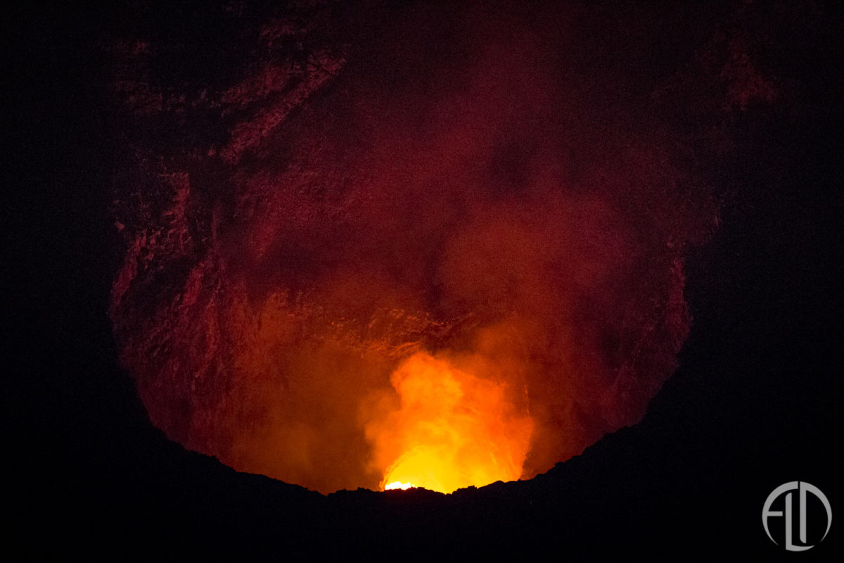 See and Active Volcano
