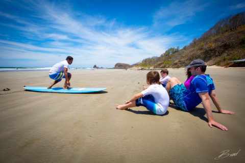 Family Surf Lesson from Finca Las Nubes