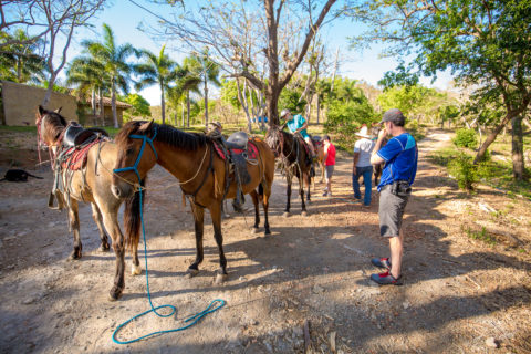 Family Horseback ride from Casa Buenavida Vacation Rental in San Juan Del Sur