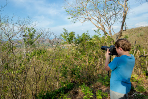 Photographing monkeys at Casa Buenavida Vacation Rental in San Juan Del Sur