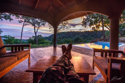 Outdoor living space at Casa Buenavida Vacation Rental in San Juan Del Sur