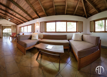 Villa Hermosa Living Room, San Juan Vacation Rental at Finca Las Nubes