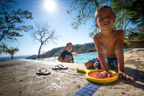 Children playing at Casa Buenavida Vacation Rental in San Juan Del Sur