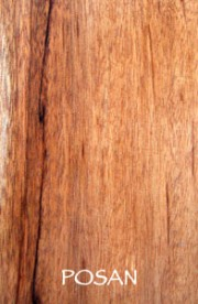 Organic and sustainable hardwood products from Posan tree