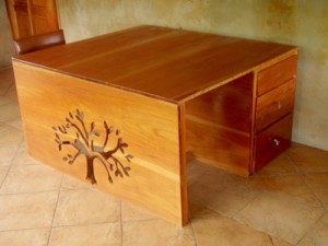 Organic hardwood product, desk