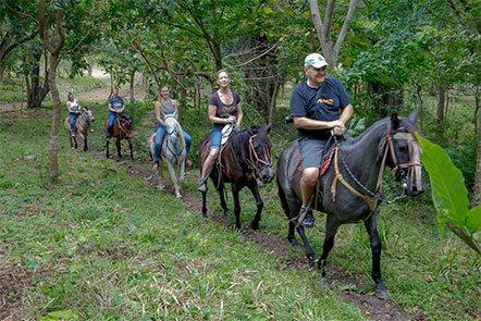 Family Horseback Riding at Finca Las Nubes