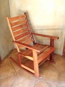 Sustainable hardwood chair