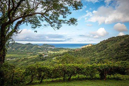 View of San Juan Del Sur from Finca Las Nubes