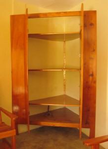 Sustainable hardwood products, open shelves