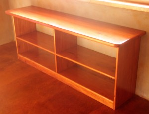 Sustainable hardwood products, open shelves