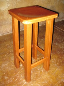 Sustainable hardwood furniture, bars and stools
