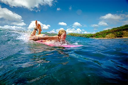 Family Surfing from Finca Las Nubes