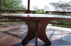 Sustainable custom hardwood table